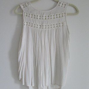 Maurice's Crochet Top Cream Size Small